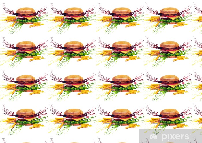 Papier peint vinyle sur mesure Savoureux sandwich - Thèmes