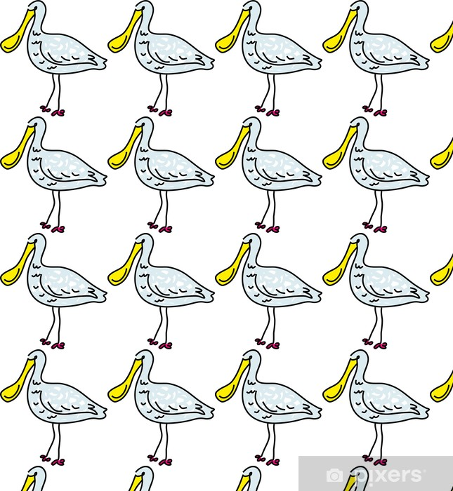 Tapeta na wymiar winylowa Warzęcha biała - Ptaki