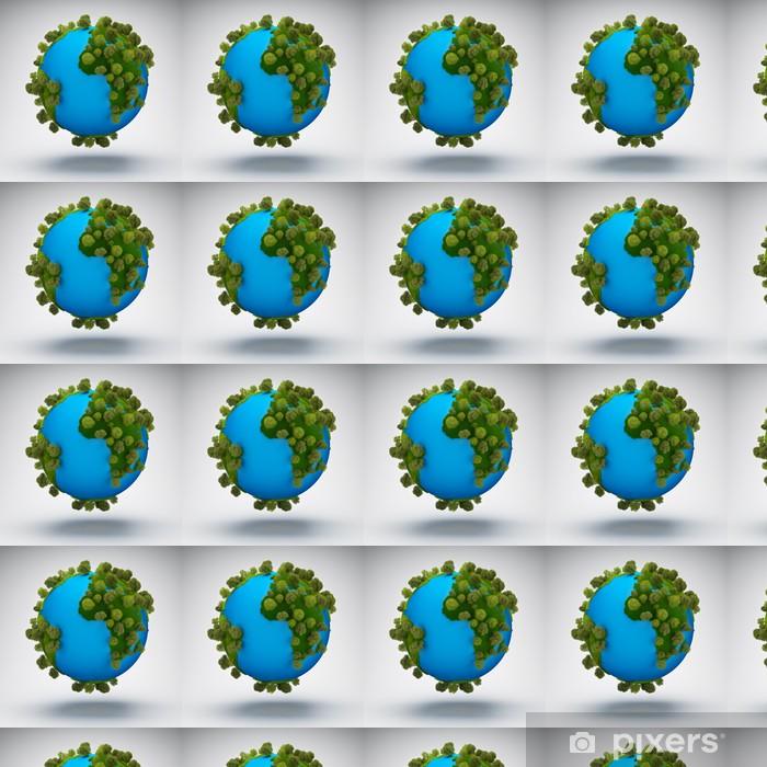 Papier peint vinyle sur mesure Résumé vert planète Terre - Espace