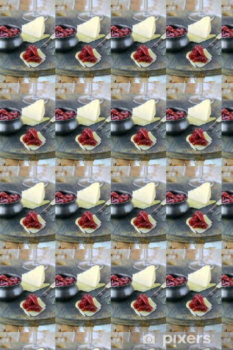 french cuisine - onion confiture on wooden table Vinyl custom-made wallpaper - Meals