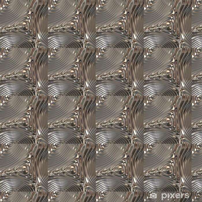 Texture Of Metal Chrome Wallpaper Vinyl Custom Made