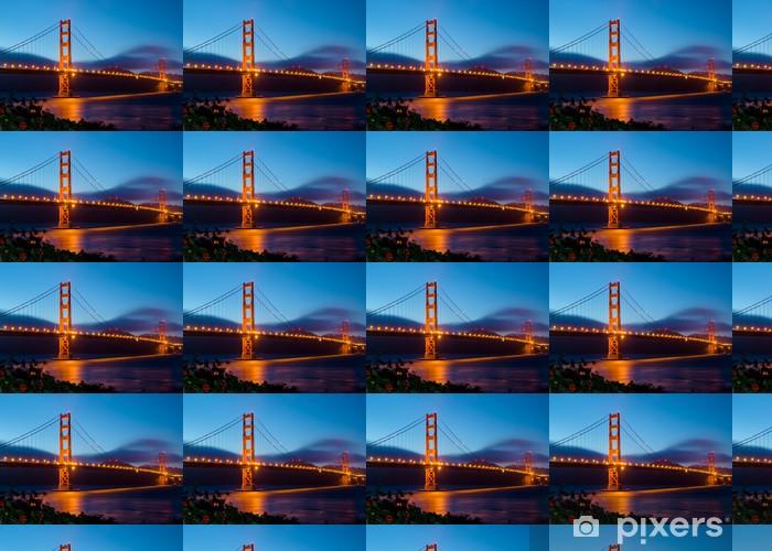 Tapeta na wymiar winylowa Golden Gate Bridge w San Francisco po zachodzie słońca - Tematy