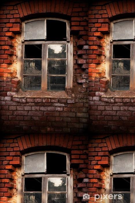 Vinylová Tapeta Altes Fenster Ziegel - Soukromé budovy