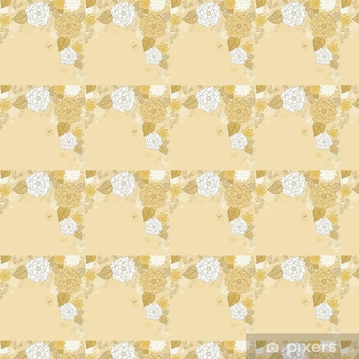 Papier peint vinyle sur mesure Résumé Contexte floral de Brown - Fleurs