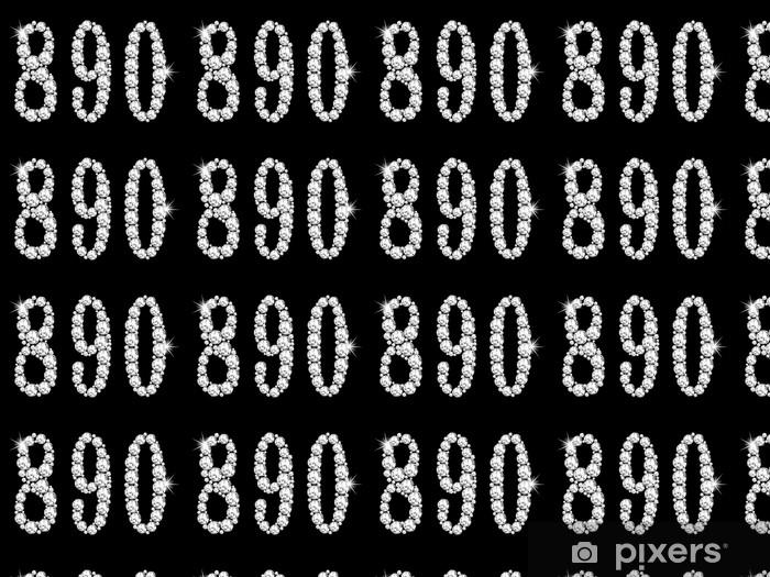 Papier peint vinyle sur mesure Numéros de diamant - Criteo