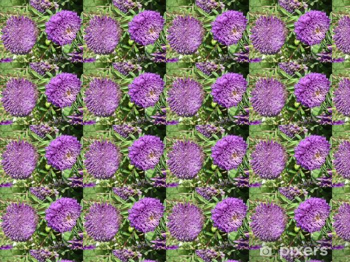 Papier peint vinyle sur mesure Fleurs violet - Fleurs