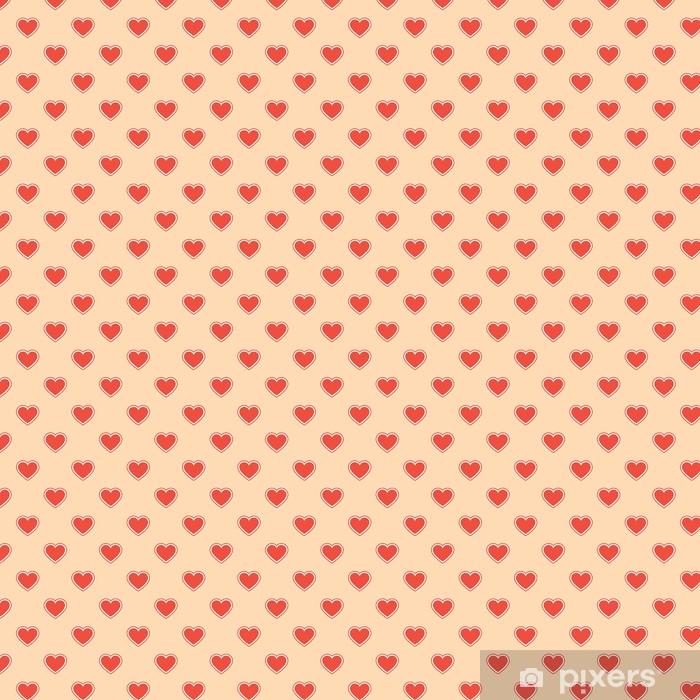 Papier peint vinyle sur mesure Motifs de tissus cardiaques - Fêtes internationales