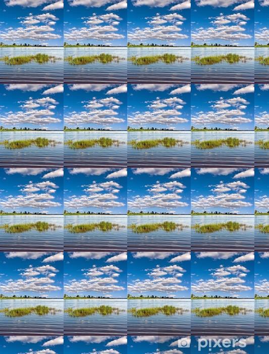 Papier Peint Vinyle Sur Mesure Paysage Du0026#39;été Magnifique Avec Rivière Et  Forêt