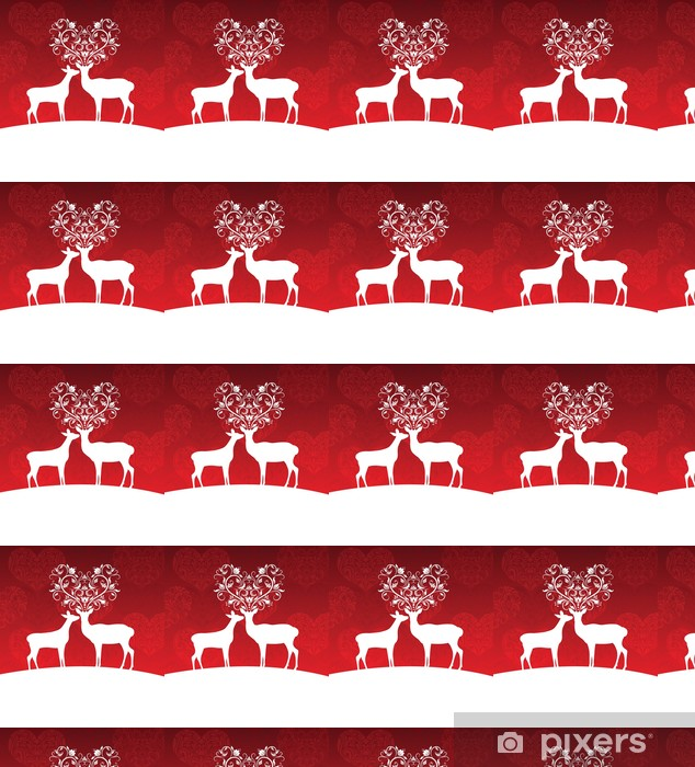 Papier peint vinyle sur mesure Deers - Animaux imaginaires