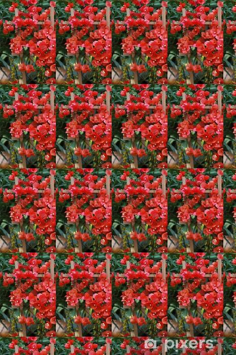 Red bougainvillea flowers Vinyl custom-made wallpaper - Urban