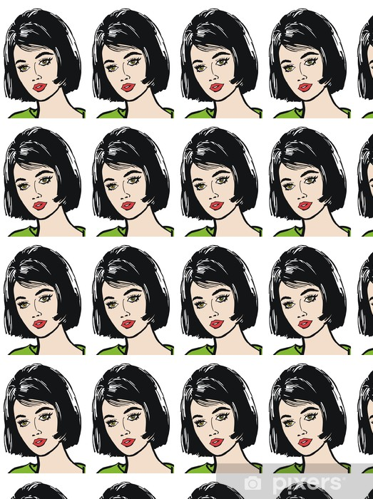 Vinylová tapeta na míru Tvář krásné ženy - Žena