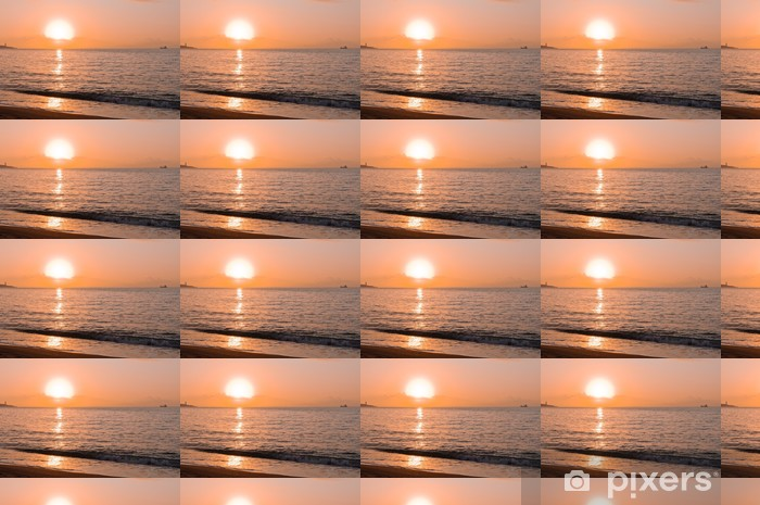Tapeta na wymiar winylowa Wschód słońca na plaży Malagueta, Andaluzja - Szczęście