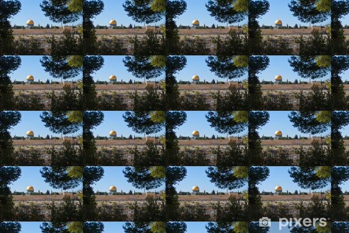Tapeta na wymiar winylowa Kopuła na Skale, widok Jerozolimy z Góry Oliwnej - Przemysł ciężki