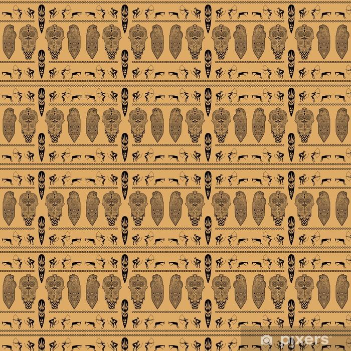 Papel de parede em vinil à sua medida African decorative pattern - África
