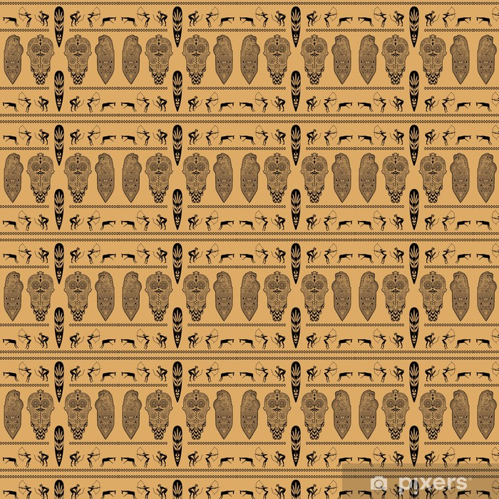 Måttanpassad vinyltapet African dekorativt mönster - Afrika