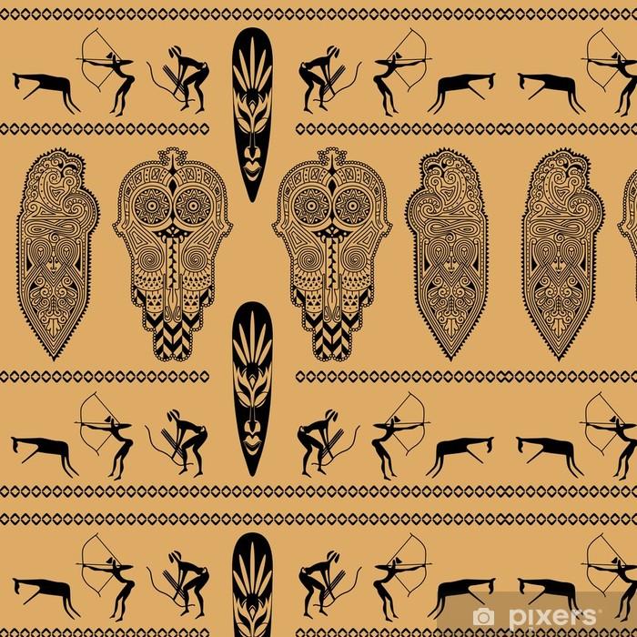 Papier peint à motifs vinyle Motif décoratif africain - Afrique