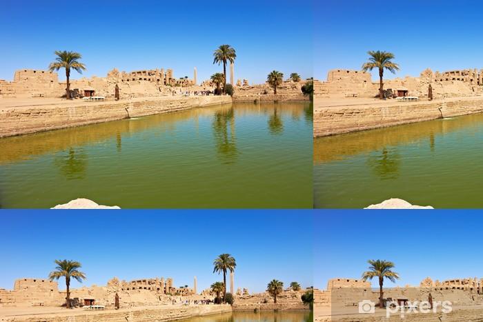 Vinil Duvar Kağıdı Karnak, Mısır Tapınağı kutsal göl - Afrika