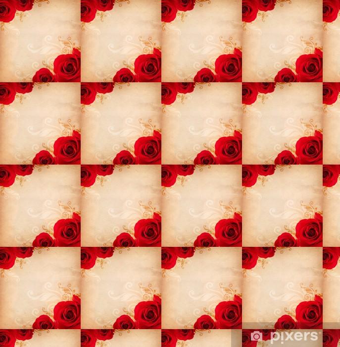 Papier peint vinyle sur mesure Fond avec des roses - Textures