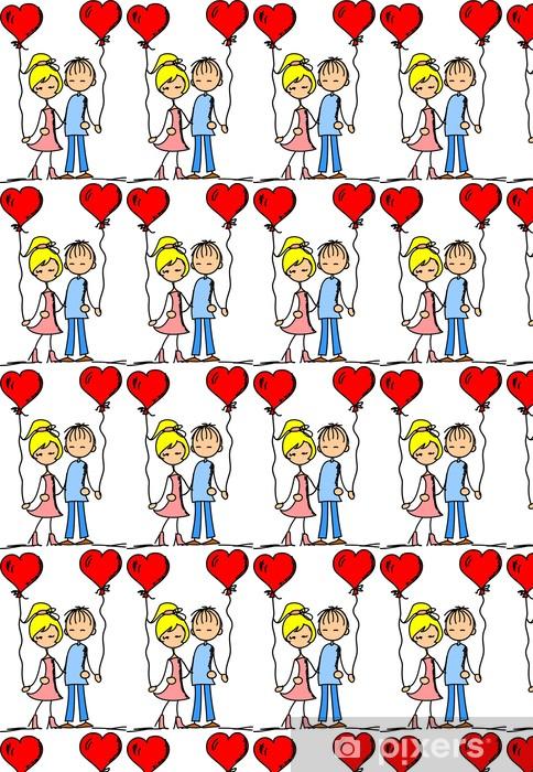 da69c1b563fc3c Behang Meisje en jongen in de liefde • Pixers® - We leven om te ...