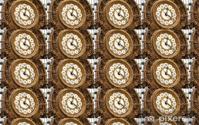 Papier peint vinyle sur mesure Antique horloge ferroviaire français au Musée d'Orsay - Villes européennes