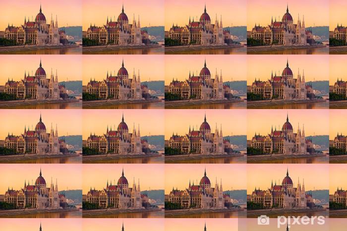 Papier peint vinyle sur mesure La Chambre du Parlement, Budapest, au lever du soleil - Europe