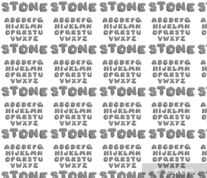 Tapeta na wymiar winylowa Wektor pęknięty kamień alfabetu na białym tle - Tematy