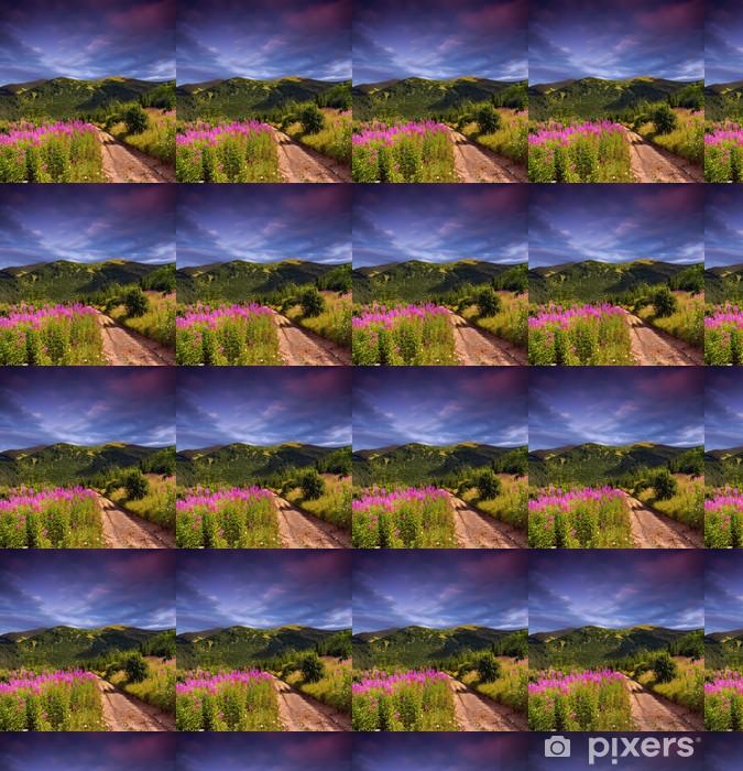 Tapeta na wymiar winylowa Piękny krajobraz lato w górach. zachód słońca - Tematy