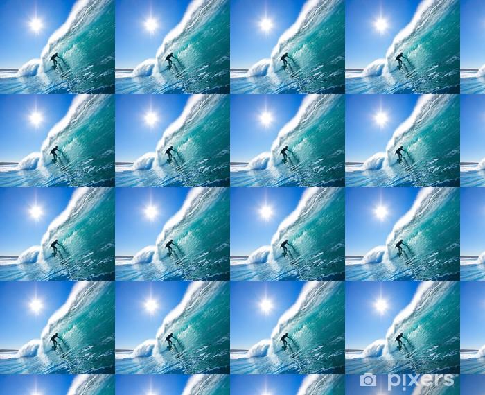 Vinylová tapeta na míru Surfař na Blue Ocean Wave - Témata