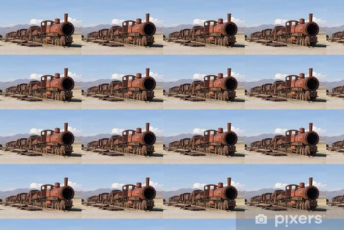 Papier peint vinyle sur mesure Trains Cimetière 1603 - Chemin de fer