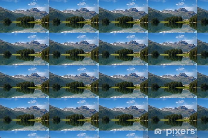 Tapeta na wymiar winylowa Alpy w Szwajcarii - Silvaplana - St Moritz - Europa