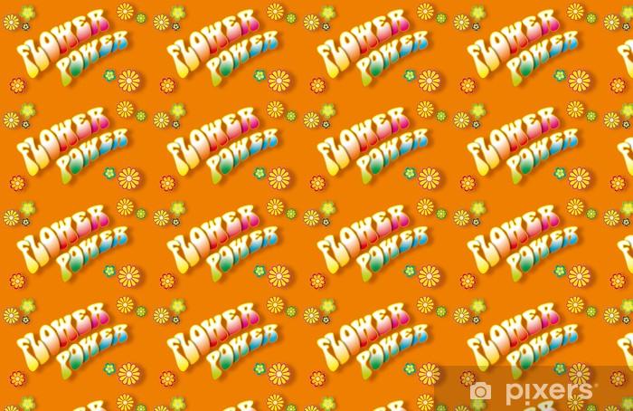 Vinylová tapeta na míru Flower Power 3D Schriftzug - Zábava