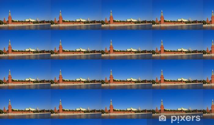 Vinyltapete nach Maß Moskauer Kreml und Moskwa - Asiatische Städte