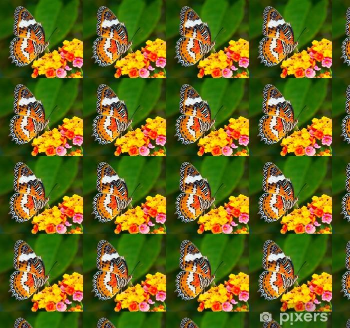 Tapeta na wymiar winylowa Motyl na kolorowy kwiat - Tematy