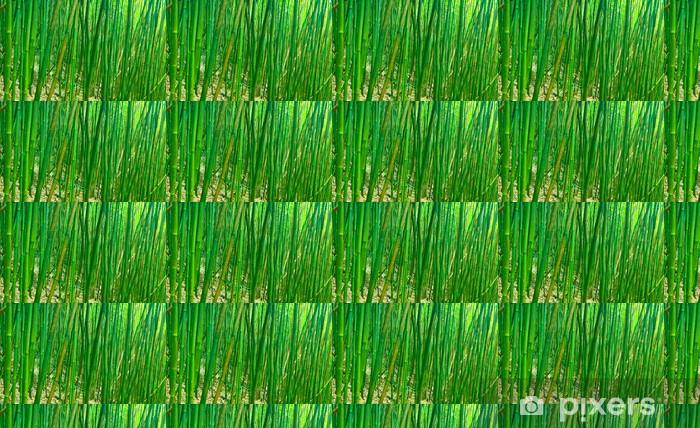 Papier peint vinyle sur mesure Vert Zen Bamboo - Agriculture