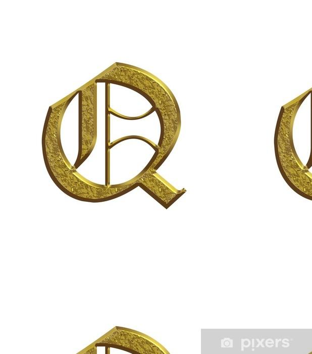 Q - Alphabet en or - Lettrine Vinyl Wallpaper - Signs and Symbols