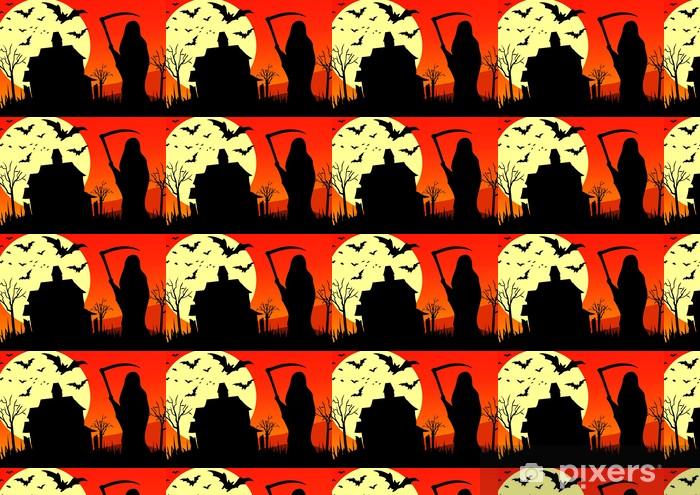Papier peint vinyle sur mesure Halloween - la faucheuse - Fêtes internationales