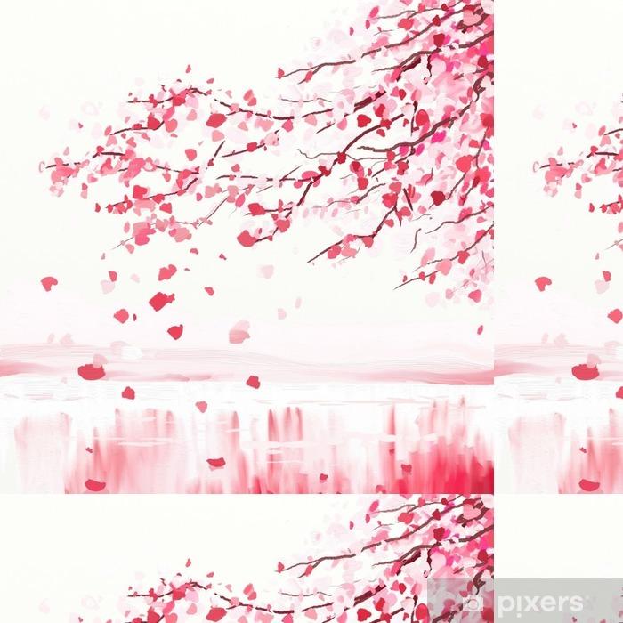Papier Peint A Motifs Arbre Cerisier Japonais Pixers Nous