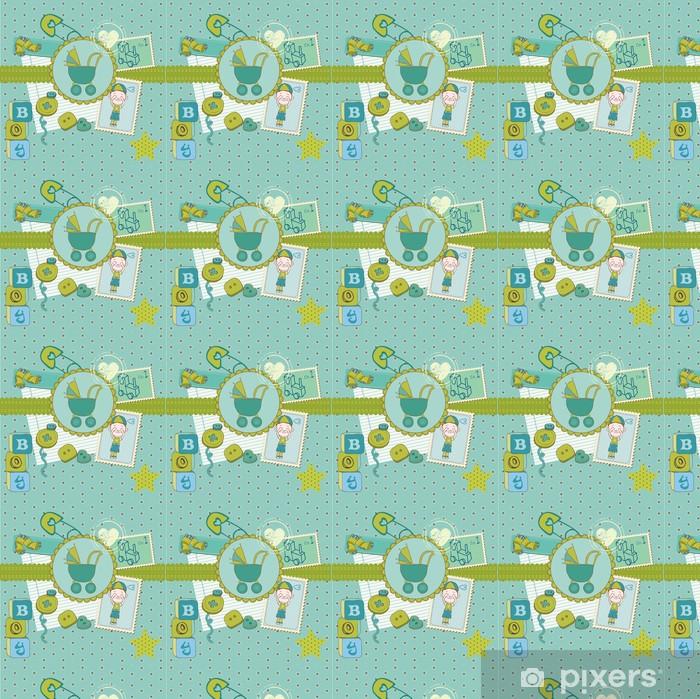 Vinyl behang, op maat gemaakt Scrap_baby_boy_3 - Achtergrond