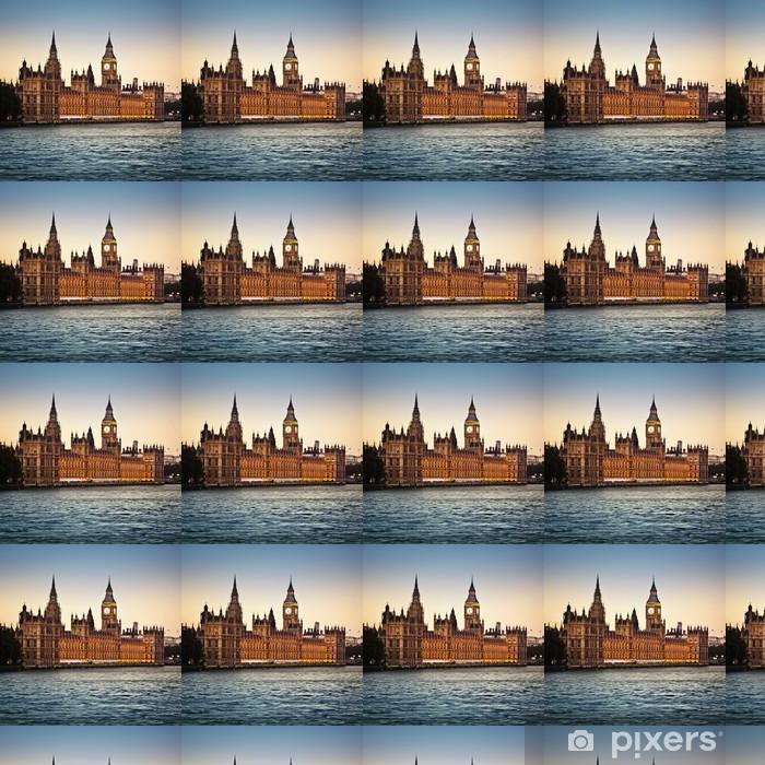 Papier peint vinyle sur mesure Houses of Parliament - Thèmes