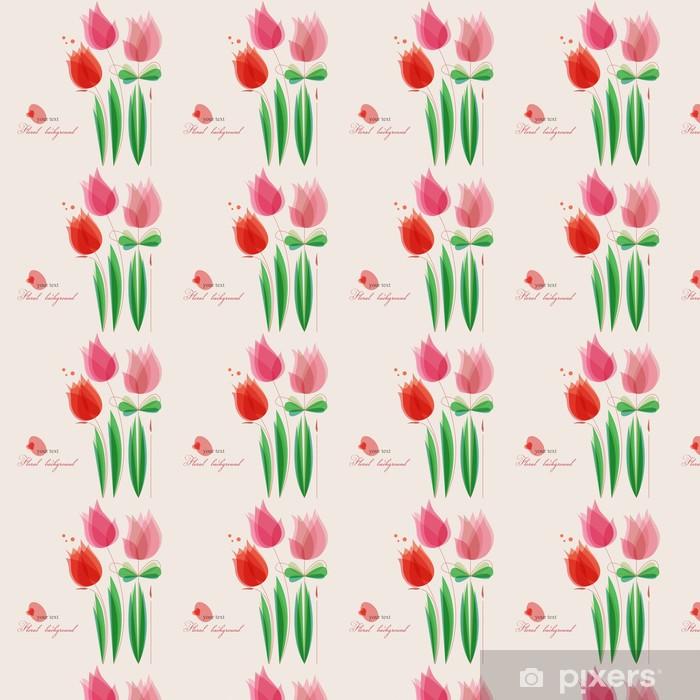 Papier peint vinyle sur mesure Fond floral mignon - Célébrations