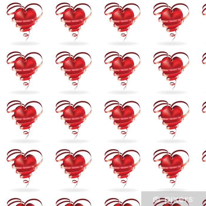 Papier peint vinyle sur mesure Valentine heart - Fêtes internationales