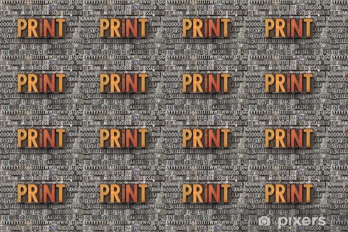 Özel Boyutlu Vinil Duvar Kağıdı Tipo tip baskı kelime - Mağazalar