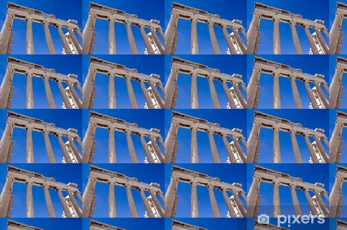 Papier peint vinyle sur mesure Colonnes des ruines d'un temple grec sous le ciel bleu - Villes européennes