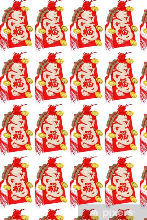Papier peint vinyle sur mesure Décoration Nouvel An chinois - Fêtes internationales