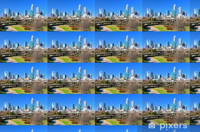 Papier peint vinyle sur mesure Skyline of Uptown Charlotte - Amérique