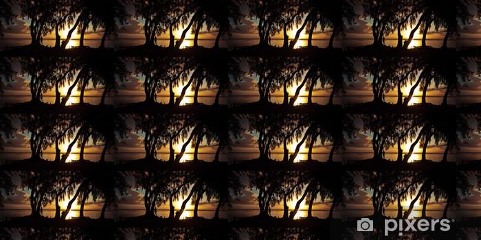 Vinylová tapeta na míru Crépuscule sous les Filaos - Ile de La Réunion - Prázdniny