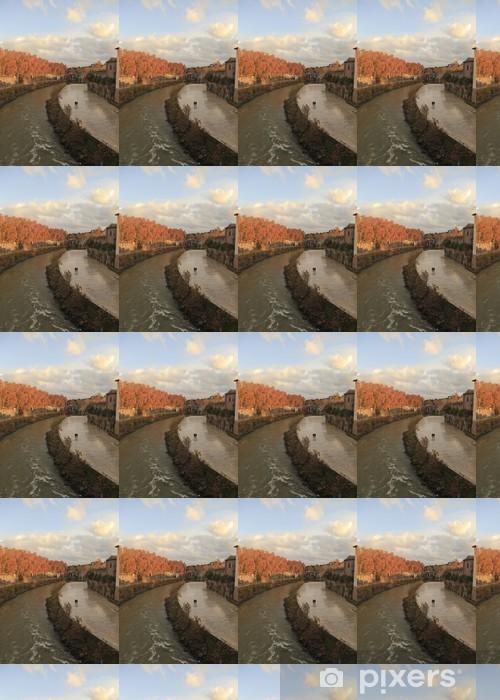 Papier peint vinyle sur mesure Vue de Ponte Fabricio, Rome, Italie - Merveilles naturelles