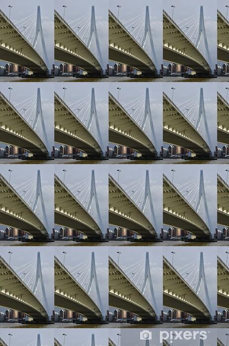Vinylová tapeta na míru Bokem Erasmus Bridge Rotterdam - Evropa
