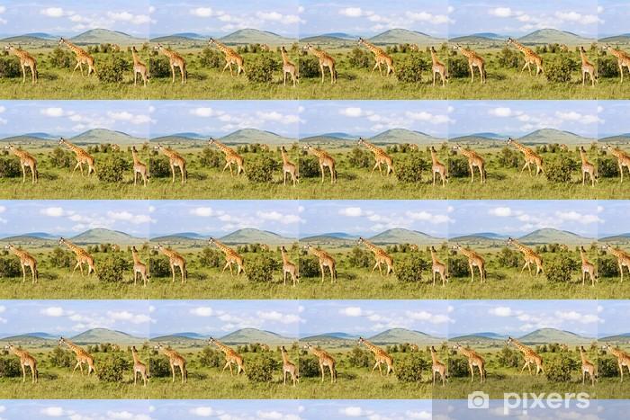 Tapeta na wymiar winylowa Rodzina Żyrafy - Tematy