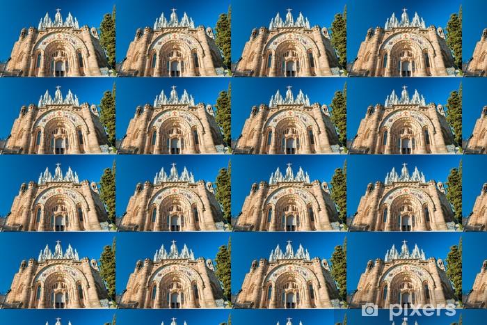 Tibidabo church in Barcelona, Spain. Vinyl custom-made wallpaper - European Cities
